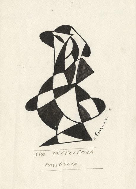 , 'His Excellency Walks (Sua Eccellenza Passeggia),' 1920, The Museum of Modern Art
