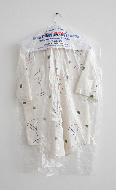 ", 'Martini Shirt (Laurel Canyon Cleaners & Laundry: ""We Operate Our Own Plant""),' 2016, David Kordansky Gallery"