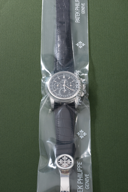 Patek Philippe, 'A rare and highly attractive platinum perpetual calendar chronograph wristwatch with moonphases, additional caseback, setting pin, certificate of origin and box, factory sealed', Circa 2009, Fashion Design and Wearable Art, Platinum, Phillips