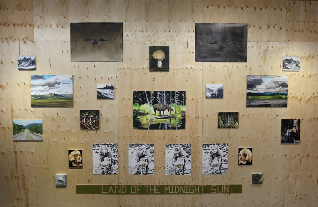 installation of  Gavin Lynch 'land of the midnight sun' May 4 - 20, 2017 at Peter Robertson Gallery