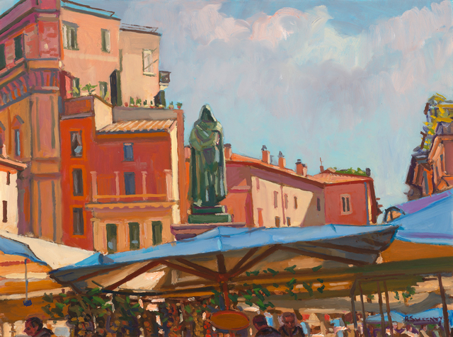 , 'Giordano Bruno, Campo de Fiori,' 2019, William Baczek Fine Arts