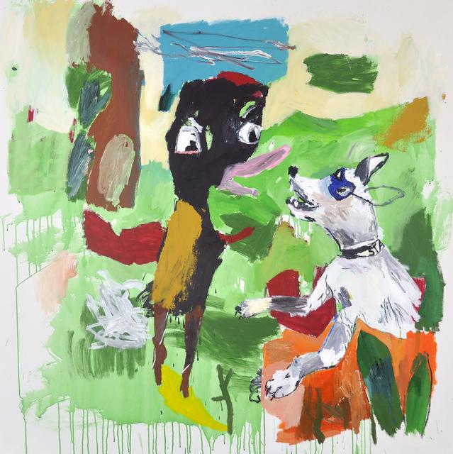 , 'Un pájaro y un perro que muerden las sombras,' 2018, Galerie Heike Strelow