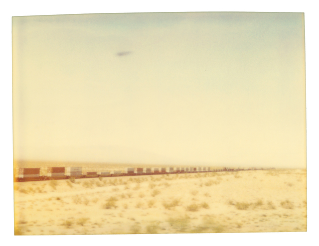 Stefanie Schneider, 'Train crosses Plain', 2003, Photography, Analog C-Print, hand-printed by the artist on Fuji Crystal Archive Paper, based on a Polaroid, mounted on Aluminum with matte UV-Protection, Instantdreams