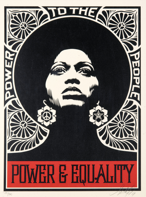 Shepard Fairey, 'Afrocentric', 2007, Print, Screen print in colours on paper, Tate Ward Auctions