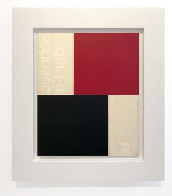 , 'Nocturne Rouge et Noir IV,' 2018, Leslie Feely