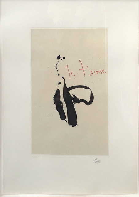 Robert Motherwell, 'Je T'aime, from Three Poems by Octavio Paz', 1987-1988, Leslie Sacks Gallery