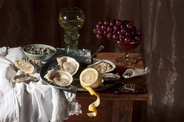 , 'Oysters and Lemon, after W.C.H.,' 2008, Robert Mann Gallery