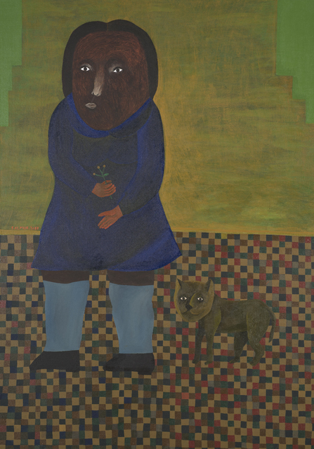 , 'Girl and Cat,' 2017, The Foundation Gallery