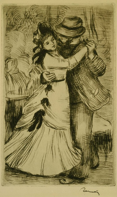 Pierre-Auguste Renoir, 'The Dance in the Country', ca. 1890, Print, Soft-ground etching on paper, Phillips Collection