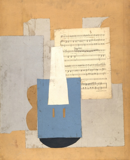 Pablo Picasso, 'Violin with sheet of music,' Autumn-1912, ARS/Art Resource