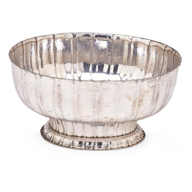 Josef Hoffmann, 'Wiener Werkstatte, Fine Floriform Bowl With Beaded Rim, Austria', ca. 1910, Rago