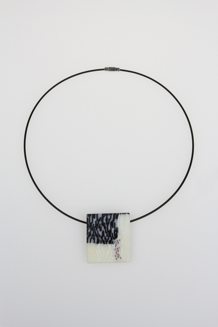 , 'Black and Slashed Rectangle Pendant,' , Bullseye Projects