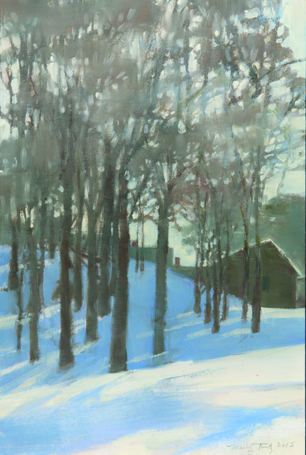 , 'Winter on Continental Ave.,' , Dowling Walsh