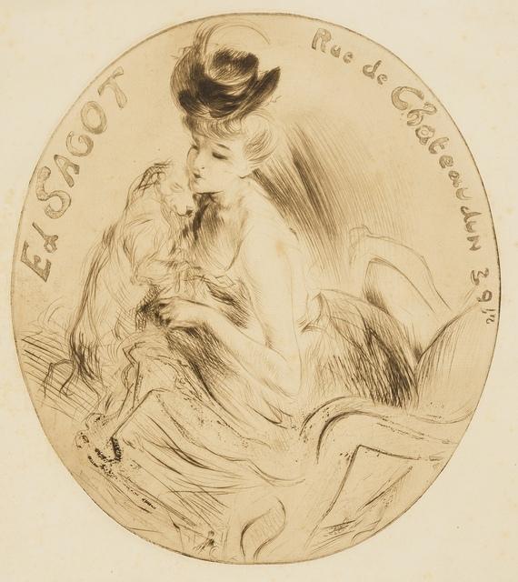 Jacques Villon, 'Adresse Sagot (La Dame au chien) (Ginestet and Pouillon E156)', 1906, Forum Auctions