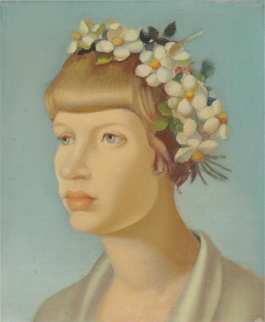 Tamara de Lempicka, 'Jeune Fille Couronnee', ca. 1954, Lillian Heidenberg Fine Art