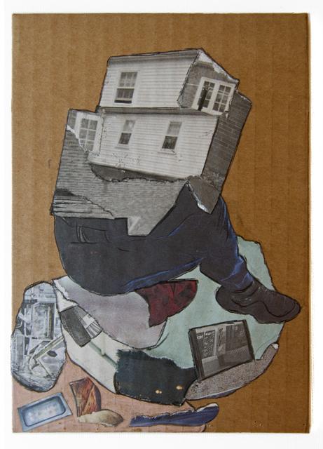 , 'Homme-Maison (Cardboard Portraits Series),' 2015, Fanny Allié + Ketta Ioannidou