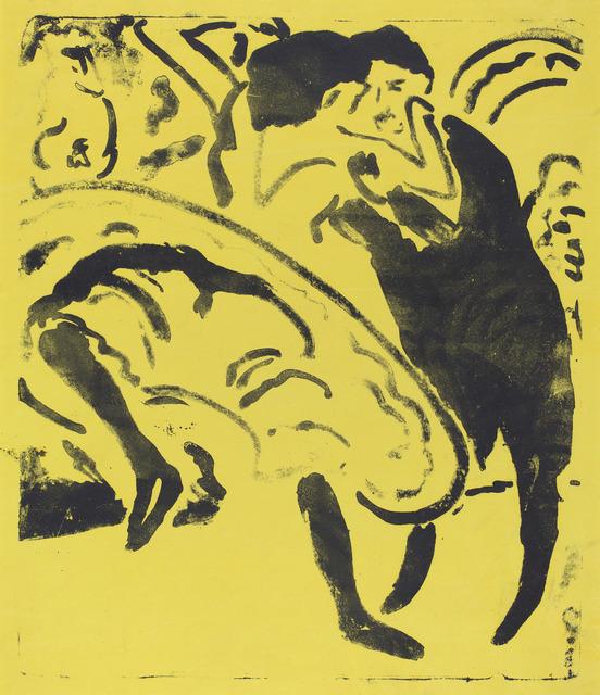 Ernst Ludwig Kirchner, 'Dancing Couple (Tanzpaar)', 1909, National Gallery of Art, Washington, D.C.