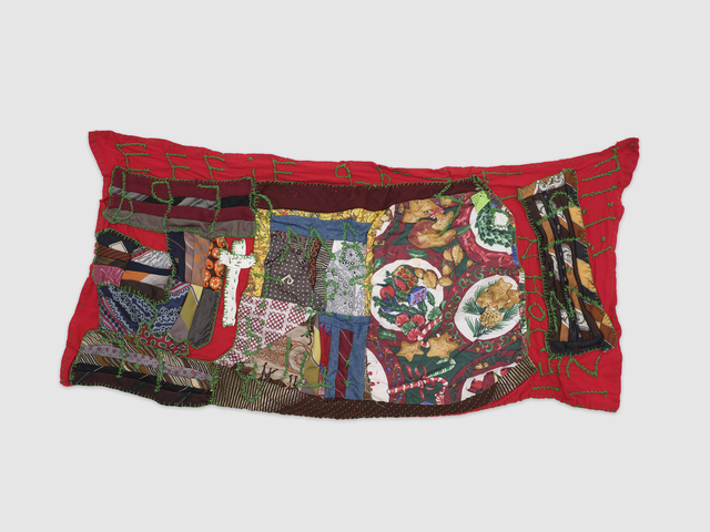 Rosie Lee Tompkins, 'Untitled', nd, Textile Arts, Polyester mens' ties, cotton fabric, denim, Polyester Christmas print, cotton thread, Anthony Meier Fine Arts