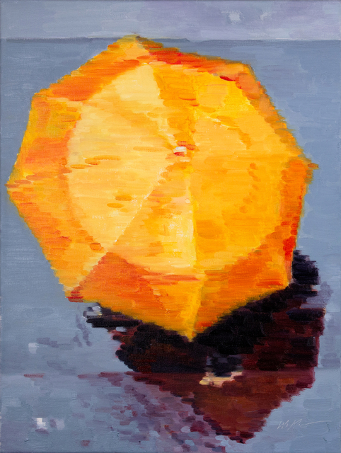 , 'Aerial View of Orange Umbrella in Paris,' 2014, ViVO Contemporary