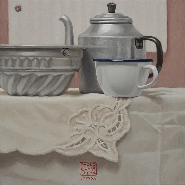 , 'COLAZIONE CON TORTA (Breakfast with cake),' 2015, Galleria Punto Sull'Arte