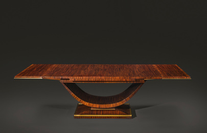 "Émile Jacques Ruhlmann, 'An Important and Rare ""Redhead"" Dining Table, model 1075 AR and 1305 NR, variant,' 1933, Sotheby's: Important Design"