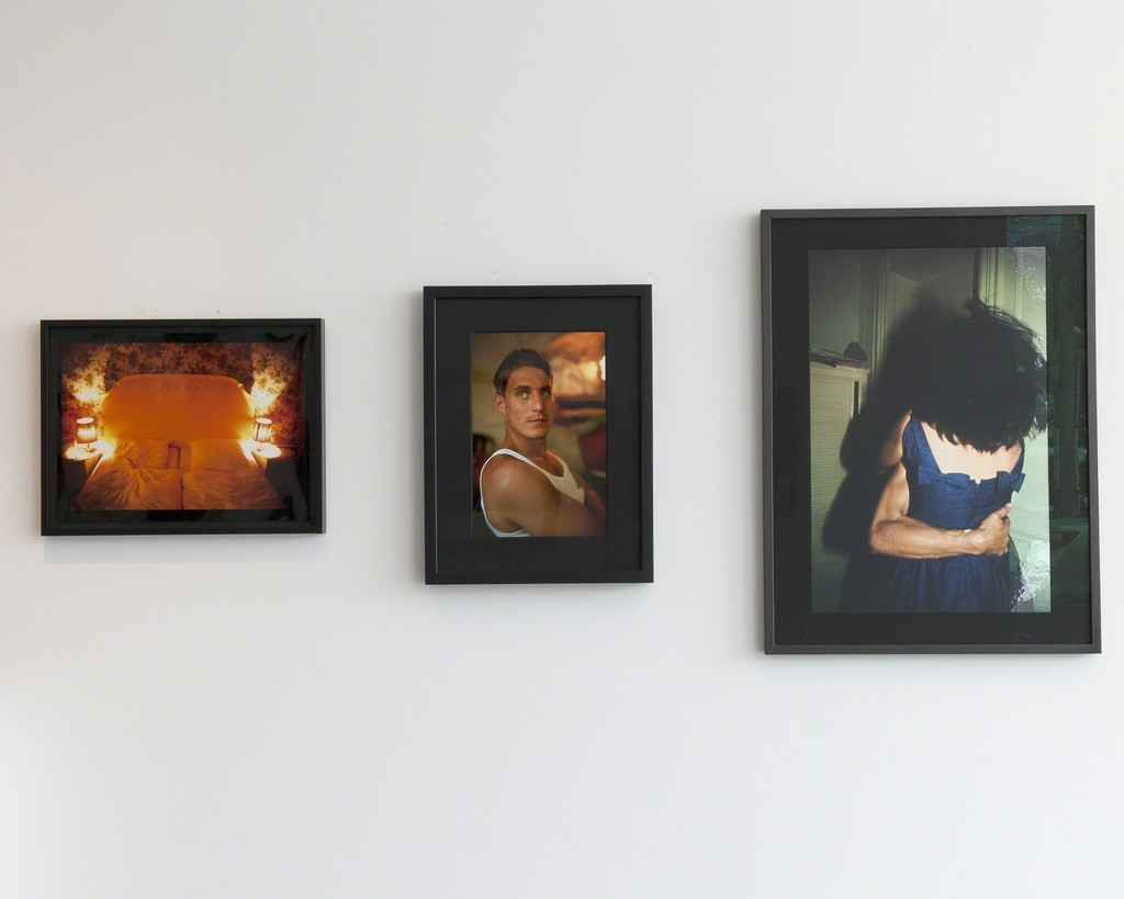 "Nan Goldin: ""Joey and Andres in Bed, Hotel Anschifer Hof, Berlin"" 1992/2006, ""Honeymoon Suite, Nuremberger Eck, Berlin 1994"", ""Clemens at lunch at Café de Sade, Lacoste, France, 1999"", ""The Hug, NYC, 1980"""