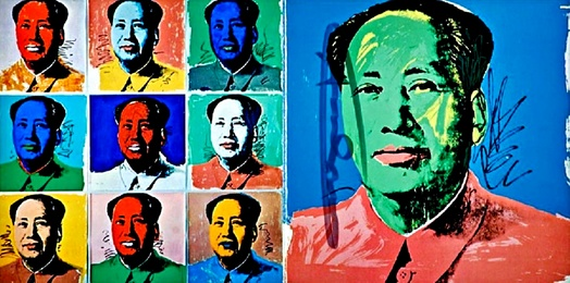 Chairman Mao (Mao Tse-Tung Promotional Card for Leo Castelli Gallery) Hand Signed by Warhol