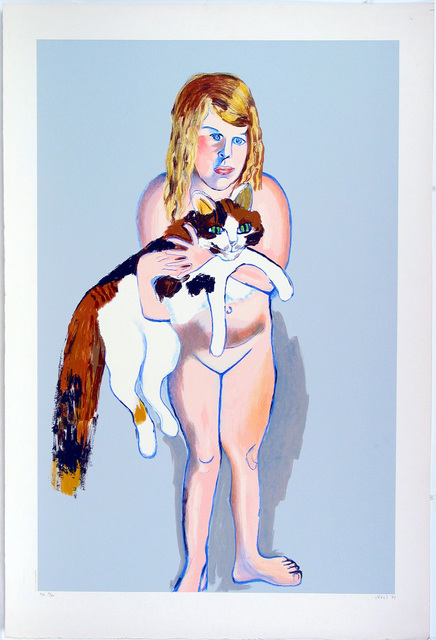Alice Neel, 'Victoria and The Cat', 1981, Sragow Gallery
