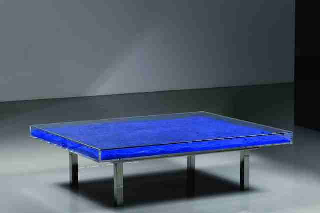 Yves Klein, 'Table IKB®', 1961/1963, Design/Decorative Art, Blue pigment in glass, Plexiglas and chrome-plated metal table, Ben Brown Fine Arts