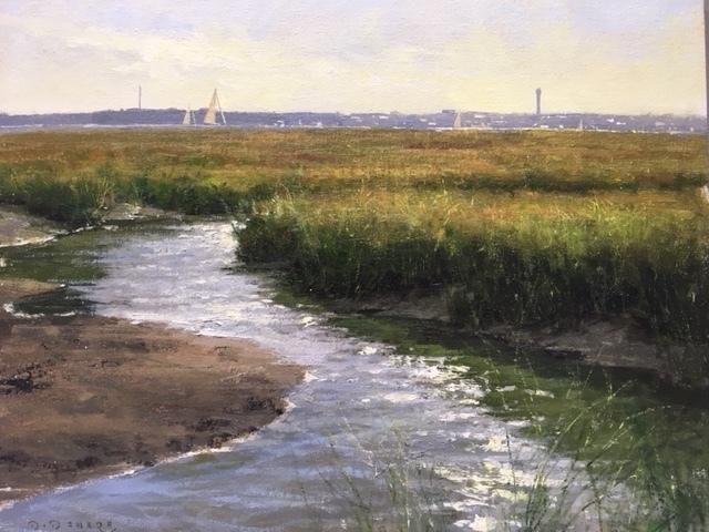 Donald W. Demers, 'Weaving Marsh: View to Sullivan's Island', 2018, Helena Fox Fine Art