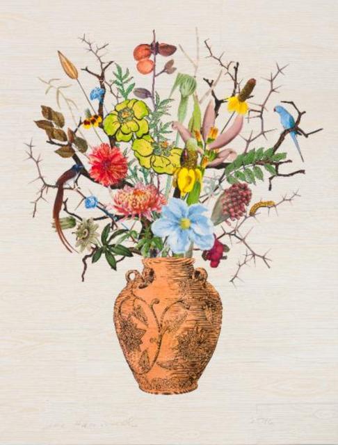 , 'Korean Vase with Hawthorn, Almonds and Milkweed,' 2016, Lyndsey Ingram Ltd.