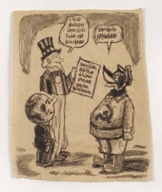 , 'Untitled (Cartoon, Uncle Sam),' n.d., Fleisher/Ollman