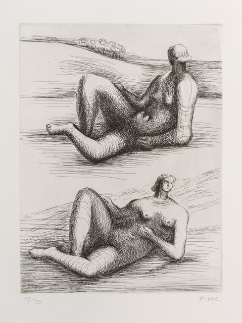 Henry Moore, 'Two reclining figures', 1977 -1978, ArtRite