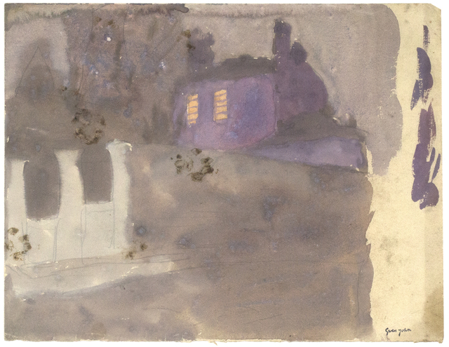 , 'Purple House Behind Wall at Twilight, Meudon,' Probably executed during the 1920s, Davis & Langdale Company, Inc.
