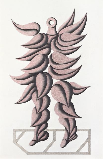 , 'Figure with feathers,' 1986-1989, Jorge Mara - La Ruche
