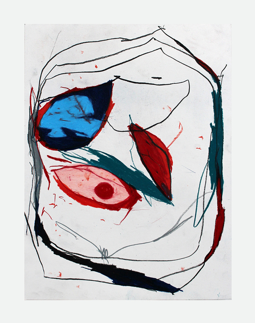 Joseph Hart, 'Cartoon Portrait', 2021, Drawing, Collage or other Work on Paper, Colored pencil on paper, Halsey McKay Gallery