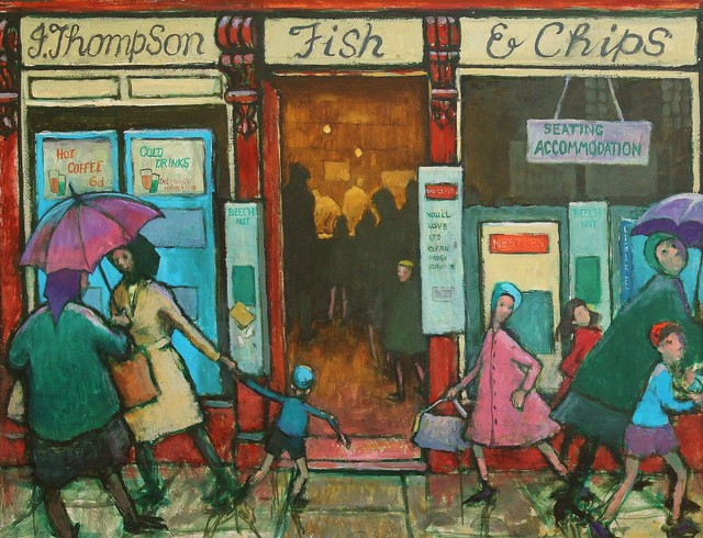 , 'J Thompson Fish & Chips,' , Castlegate House Gallery
