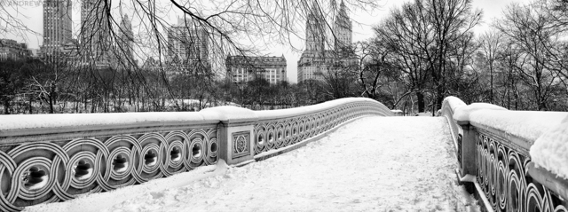 Andrew Prokos, 'Panoramic View of Bow Bridge in Winter, Central Park', ca. 2006, Andrew Prokos Gallery