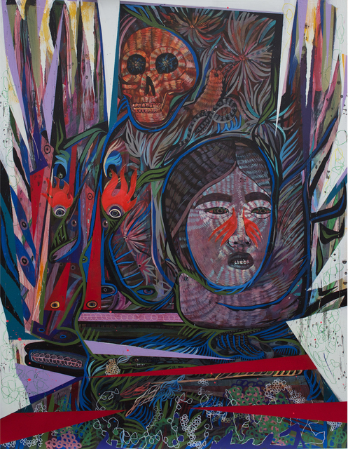 , 'Death / Devil / Fool 2,' 2017, Galerie Matthew Namour