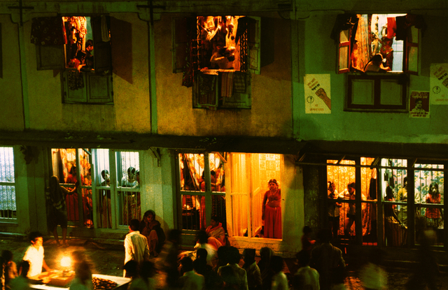 , 'Cages on Falkland Road at Night (Overview), Falkland Road, Bombay, India,' 1978, Howard Greenberg Gallery
