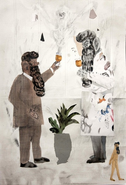 , 'Professor and Friend Tasting Beer,' 2014, Asya Geisberg Gallery