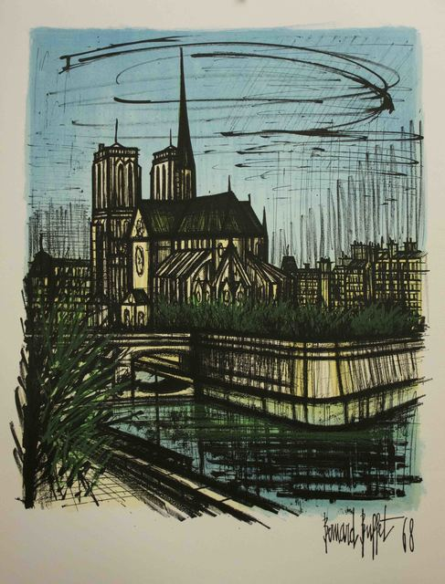 Wondrous Bernard Buffet Notre Dame 1968 Available For Sale Artsy Home Interior And Landscaping Ferensignezvosmurscom