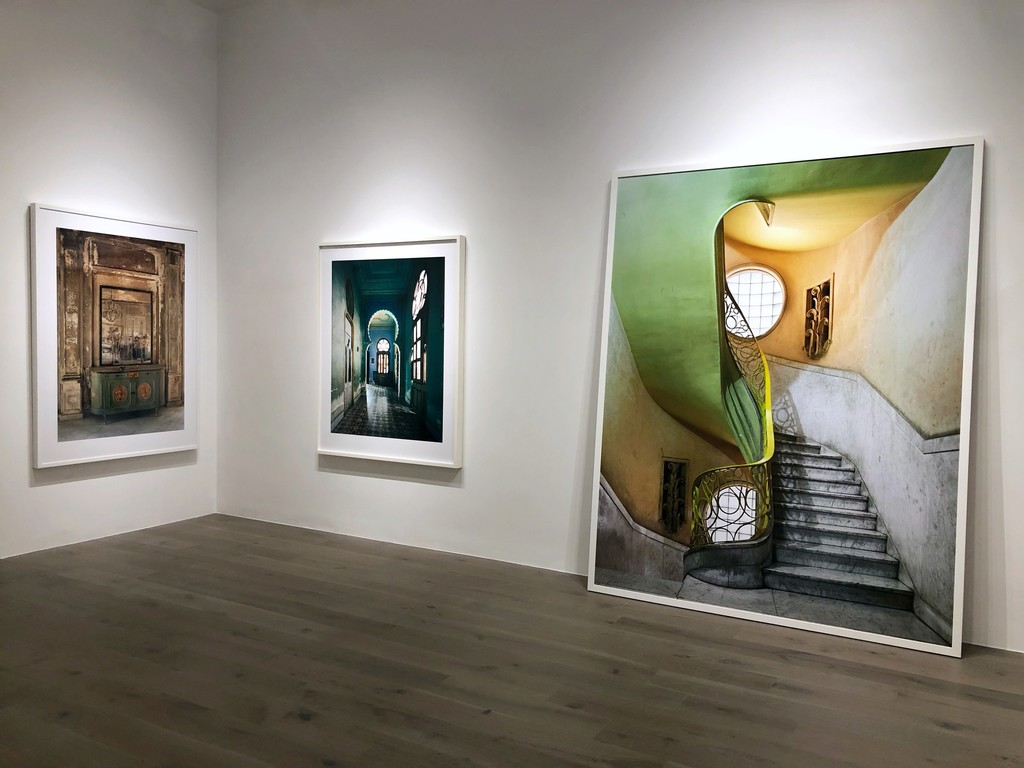 Michael Eastman: Isabella's Mirror, Havana; Blue Moorish Arch, Havana; Deco Stairwell #2, Havana