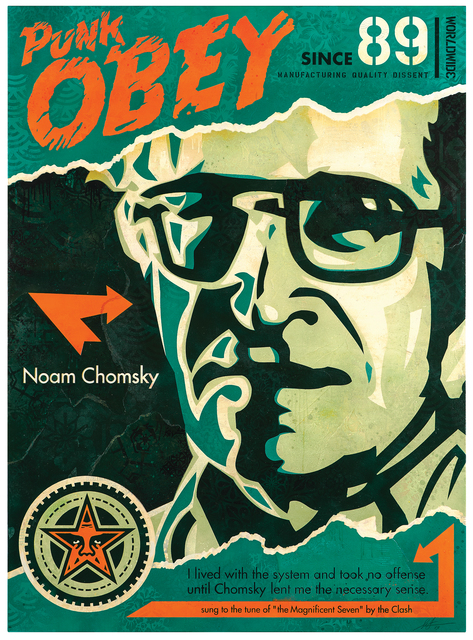 Shepard Fairey, 'Chomsky', 2019, Over the Influence