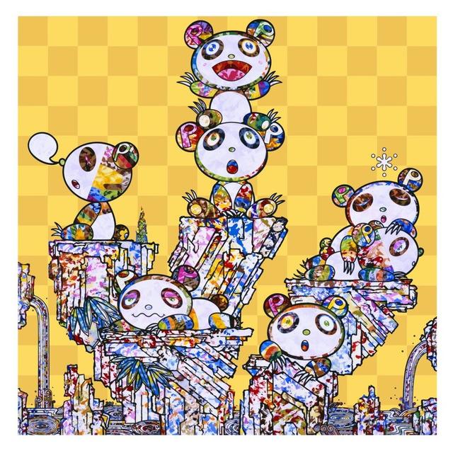 Takashi Murakami, 'Panda Cubs Pandas', 2019, Print, 4c offset + cold stamp, Lougher Contemporary