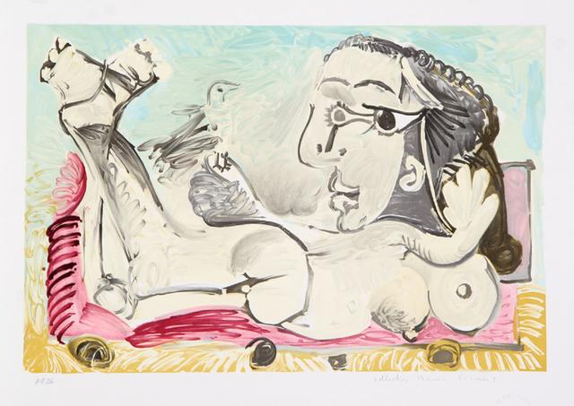 Pablo Picasso, 'Nu Couché à l'oiseau, 1968', 1979-1982, RoGallery