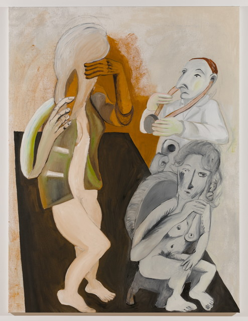 , 'Untitled (doctor, seated woman and woman with hairbrush 1),' 2016, MARTOS GALLERY