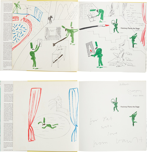 David Hockney, 'Hockney Paints the Stage: two books with hand-drawings', 1983, Phillips