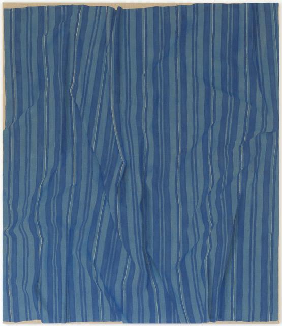 , 'Blauer Stoff,' 2017, Galerie Rüdiger Schöttle