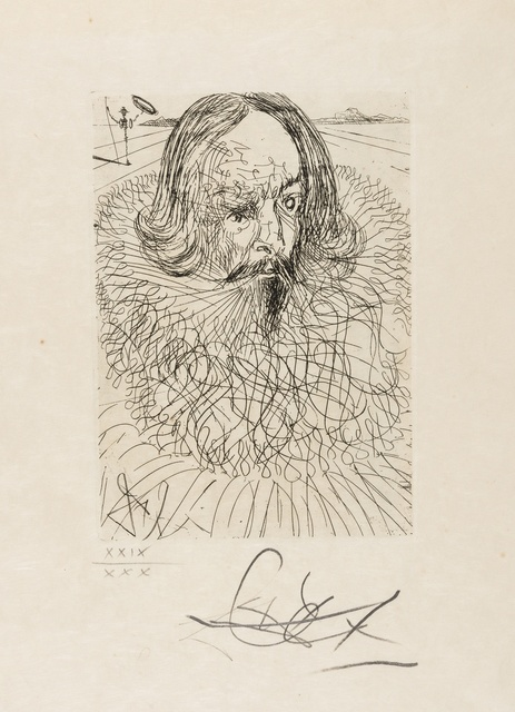 Salvador Dalí, 'El Greco & Cervantes (from Cinq Portraits Espagnols) (M&L 152b & 150b; Field 65-7-E&B)', 1966, Print, Two etchings, Forum Auctions